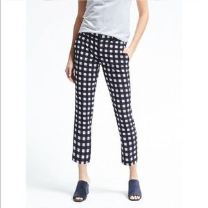 Banana Republic Avery Gingham Crop Pants